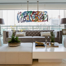 Contemporary Living Room by Marcia Arcaro Design