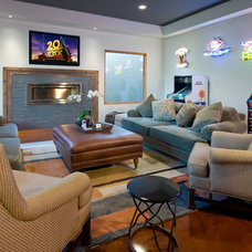 Contemporary Living Room by Custom Dreams Construction Group