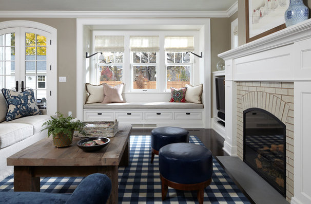 Traditional Living Room by Peterssen/Keller Architecture