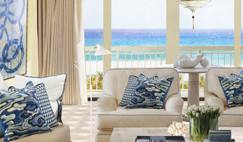 French blue accented seaside condominium