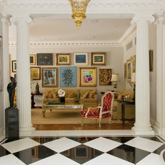 traditional living room by Allan Malouf Studio