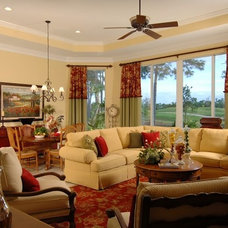Traditional Living Room by Bandon Blue Designs