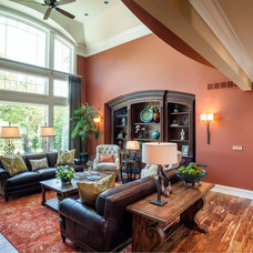 Traditional Living Room by M.J. Whelan Construction