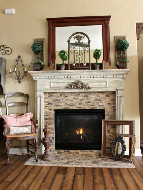 French Country Fireplace Houzz