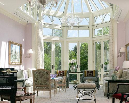 Beige Living Room Design Ideas Renovations Photos With Purple Walls