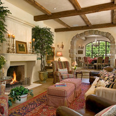 Mediterranean Living Room by Giffin & Crane General Contractors, Inc.