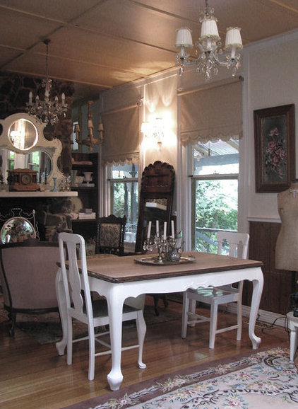 Traditional Living Room French Farmhouse table