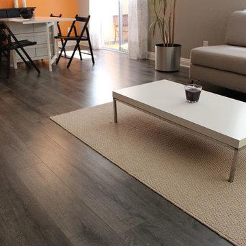 French Gray White Wash Laminate Floor