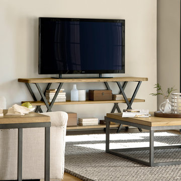 French Industrial Living Room Design