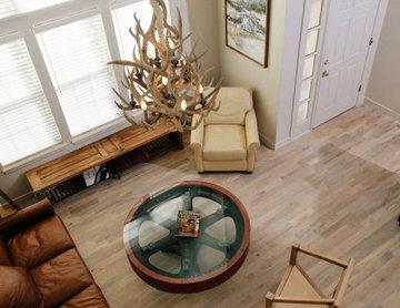 French oak flooring Industrial Farmhouse style
