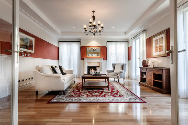 Traditional Living Room by Oswald Homes