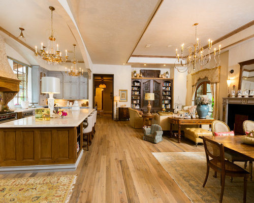 Open concept french country kitchen ideas pictures for Open concept house decorating ideas