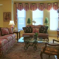 Traditional Living Room by Lena Kroupnik Interiors