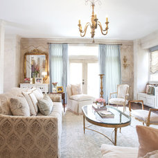 Traditional Living Room by Dodson and Daughter Interior Design