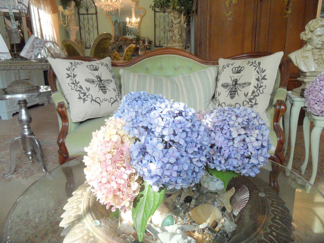 Eclectic Living Room by Shabby French Cottage