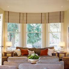 Beach Style Living Room by Blue Garnet Design/The Design Mill