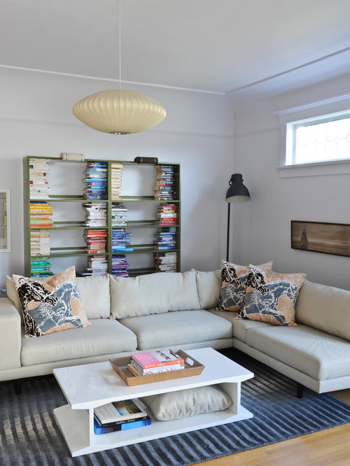 Bookshelves Behind Sofa Home Design Ideas Pictures