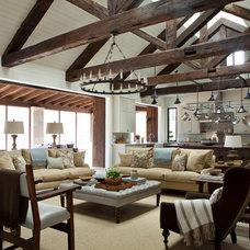 Farmhouse Living Room by Dalgleish Construction Company