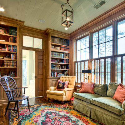 Inspiration for a cottage enclosed living room remodel in Atlanta
