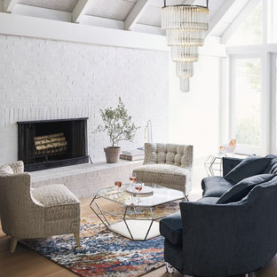 Inspiration for a transitional living room remodel in Other