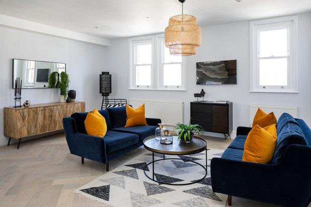 Contemporain Salon by Burbeck Interiors ltd