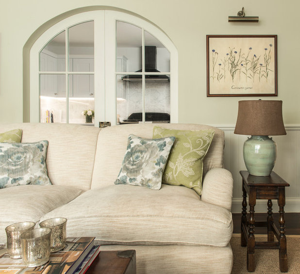 Traditional Living Room by Lisette Voute Designs
