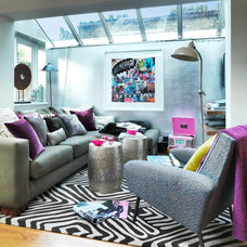 Contemporary Living Room by Juliette Byrne