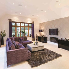 Transitional Living Room by The Society of British & International Design