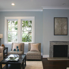 Traditional Living Room by Charleene's Houses, LLC