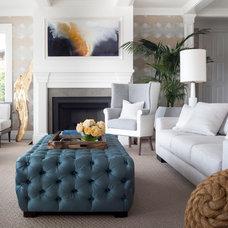 Transitional Living Room by David  Duncan Livingston