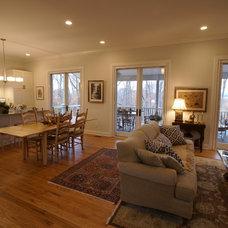 Farmhouse Living Room by Matthew Bowe Design Build, LLC