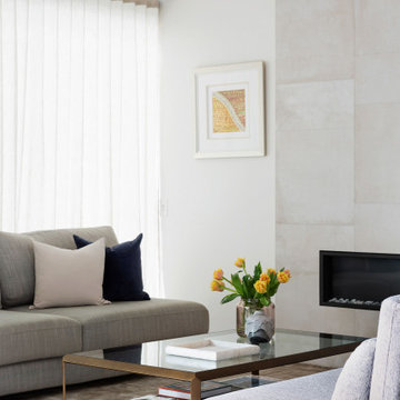 furniture placement can be reconfigured to open up the space