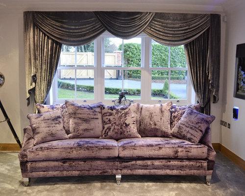 Crushed Velvet Sofa Home Design Ideas Renovations Photos