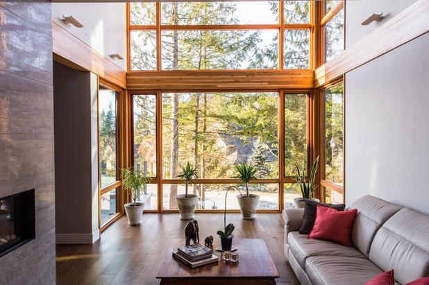 コンテンポラリー リビング by Jamie Banfield Interior Designs