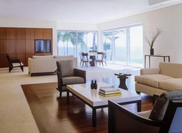 Contemporary Living Room by Michael Wolk Design Associates