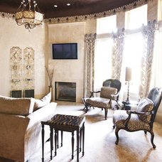 Traditional Living Room by Rick Hoge