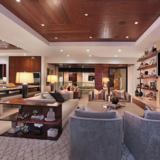 Contemporary Living Room by Brandon Architects, Inc.