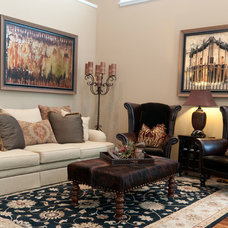 Traditional Living Room by Rainey Richardson Interiors