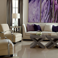 Transitional Living Room by Paoli Design Center