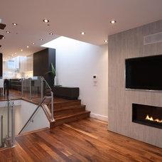 Contemporary Living Room by Arrow House Design Studios