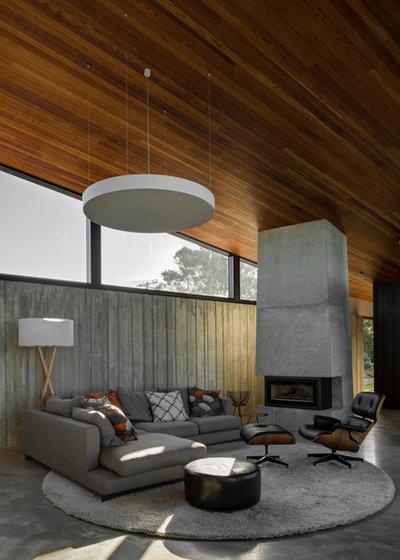 Modern Living Room by Sam Hartnett Photography