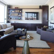 Contemporary Living Room by Palladio Interior Design & Wallace J. Toscano AIA