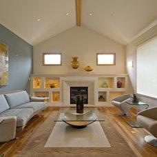 Contemporary Living Room by square three design studios