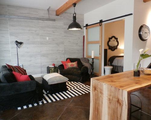 Garage turned into living room