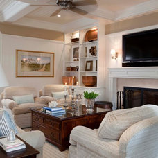 Traditional Living Room by Beach Glass Interior Designs