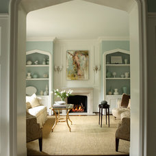 Traditional Living Room by Rabaut Design Associates, Inc.