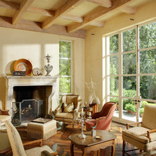 French Country Living Room by Dave Adams Photography