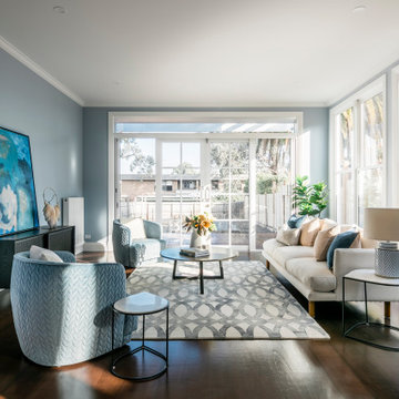 Gardenvale Project Hamptons Style Open Plan Living and Family Room
