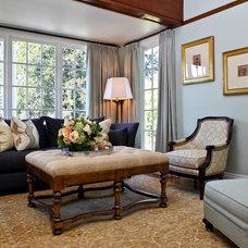 Traditional Living Room by Kush Handmade Rugs