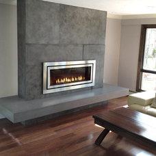 Contemporary Living Room by Trueform Concrete